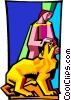 Vector Clip Art picture  of a Tarot card