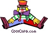 clown Vector Clipart graphic