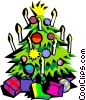 Vector Clipart illustration  of a Christmas tree with candles