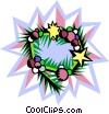 Vector Clipart picture  of a Christmas wreath