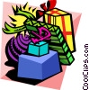 Vector Clipart graphic  of a presents