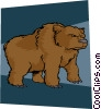 Vector Clipart image  of a bear market