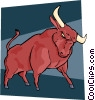 bull market Vector Clipart graphic