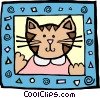 Vector Clip Art picture  of a cat
