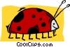 ladybug Vector Clip Art graphic