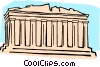 Vector Clip Art image  of a European architecture