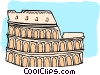 Vector Clipart image  of a European architecture