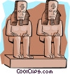 Vector Clip Art graphic  of a Egyptian architecture