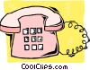 Vector Clipart illustration  of a telephone