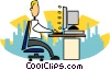Vector Clip Art image  of a office work