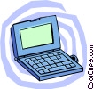 Vector Clip Art graphic  of a laptop PC