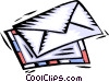 Vector Clip Art image  of a mail