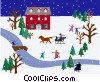 winter scene Vector Clipart illustration