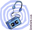 Vector Clip Art image  of a cassette player