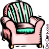 Vector Clipart picture  of an arm chair