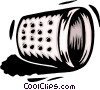 Vector Clipart graphic  of a thimble