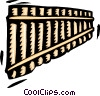 pan flute Vector Clip Art graphic