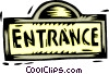 Vector Clipart image  of a sign