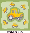 Vector Clip Art image  of a tractor