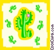 Vector Clip Art image  of a cactuses