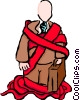 Vector Clipart graphic  of a red tape