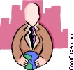 Vector Clipart graphic  of a global approach