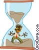 Vector Clipart picture  of a running out of time