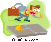 Vector Clip Art graphic  of a the trap is set