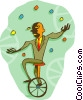 Vector Clip Art image  of a juggling