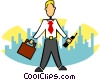 stylized businessman Vector Clipart picture