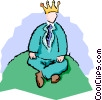 king of the hill Vector Clip Art image