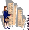 Vector Clip Art image  of a businesswoman