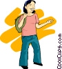 Vector Clip Art image  of a Teenage girl