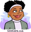 African-American woman Vector Clipart picture