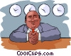 Vector Clipart graphic  of a Newsman