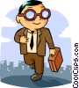 businessman Vector Clipart illustration