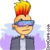 punk rocker Vector Clip Art picture