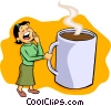Vector Clip Art graphic  of a before coffee