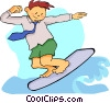 Vector Clip Art graphic  of a Business surfing web