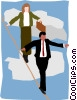 walking the tightrope Vector Clipart picture