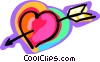 arrow through heart Vector Clip Art picture