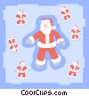 Santa Clauses Vector Clipart illustration