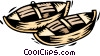 canoes Vector Clipart illustration