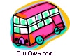 Vector Clipart graphic  of a double-decker bus