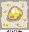 Vector Clip Art picture  of a taxicabs