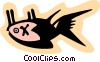 Vector Clip Art image  of a fish