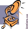 The Arts/Old fashioned phonograph Vector Clip Art picture