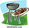 Vector Clipart picture  of a bar-b-que