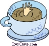 bottomless cup of coffee Vector Clipart picture