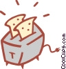 Vector Clipart picture  of a toaster
